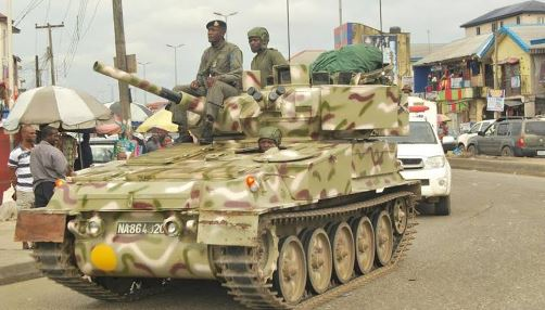 Nnamdi Kanu: Army Deploys Armoured Tanks to the South-East (Video)