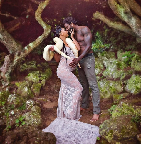 Checkout this serpent garden of eden inspired maternity - Who was the serpent in the garden of eden ...