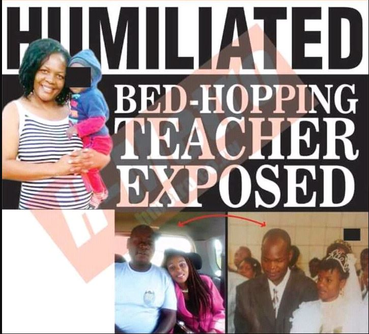 Exposed: Drama as Female Teacher is Humiliated Inside School Premises for Snatching 3 Married Men