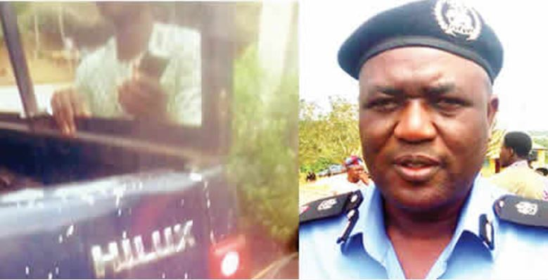 Drama as Bribe-collecting Policemen Handcuff Passenger to Vehicle After Driver Escaped