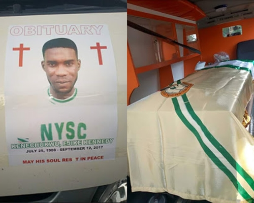 Tears and Sorrow as NYSC Batch B Corps Member Slumps, Dies in Maiduguri (Photos)