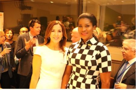 Nigerian Actress, Stephanie Okereke Meets Crown Princess of Denmark (Photos)