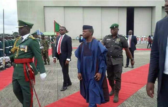 Yemi Osinbajo In Uyo For Akwa Ibom At 30 Celebration (Photos)