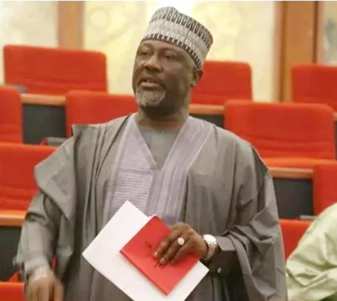 (Photos) INEC Officials Dumps Recall Documents in Front of Dino Melaye's Office at National Assembly