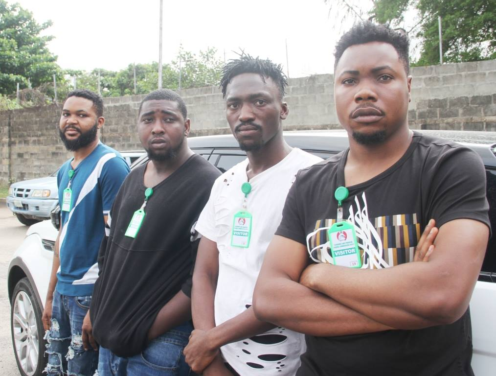 Four Suspected Yahoo Boys Living Flambouyant Lifestyle Arrested By EFCC (Photos)