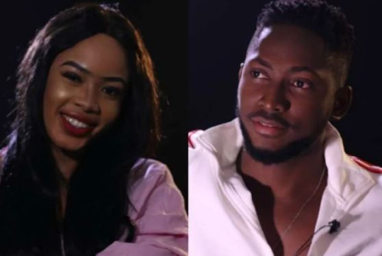 Image result for #BBNaija : Nina and Miracle reconcile in Ghana