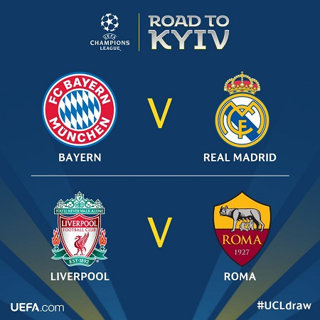 Uefa Champions League Draw Real Madrid Given Tough Semi Final Opponent