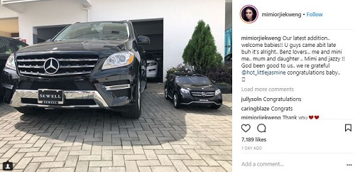 Nollywood Actress, Mimi Orjiekwe Acquires Brand New Mercedes Benz SUV Worth Millions Of Naira