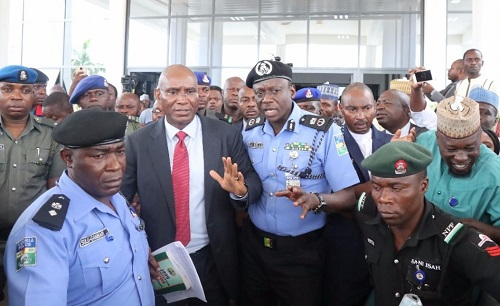Photos And Video Of Senator Ovie Omo-Agege Being Arrested By The Police For Snatching Mace