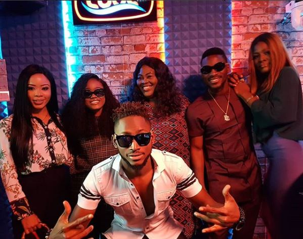 #BBNaija Finalists Storm Cool FM In Lagos As They Continue Their Media Tour (Photo)