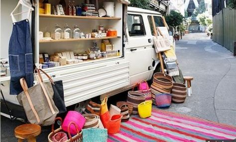 Check Out How Abuja Residents Are Turning Vehicles To Mobile Shops