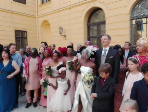 PDP Chairman Attends Daughter's Wedding To A White Man In Austria (Photos)