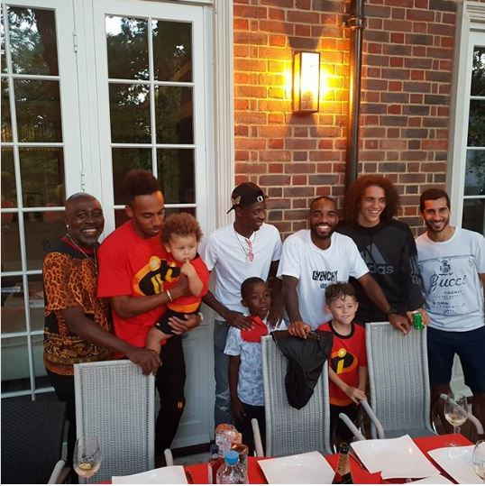 Barca Forward, Ousmane Dembele Joins Arsenal Players In London (Photo)