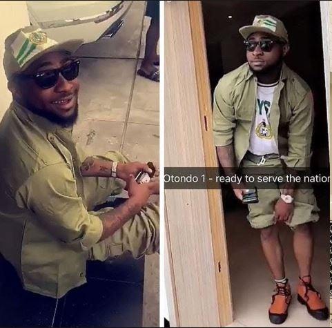 Nigerians React As Davido Starts Compulsory Nysc Programme (tweets)