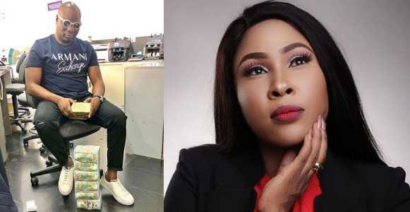 Image result for Nigerian big boy, Billionaire Mompha shames actress Charity Nnaji for calling him stingy after begging for money; she reacts.