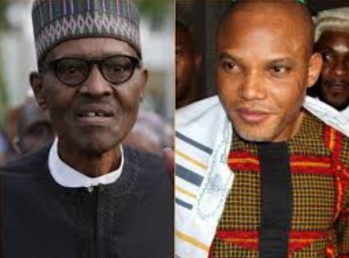 Nnamdi Kanu Names Part Of President Buhari's Body That Was Cloned