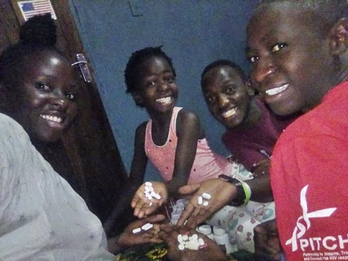 Lady Shows-off Her Family Living With HIV As They Display The Drugs They Take Daily