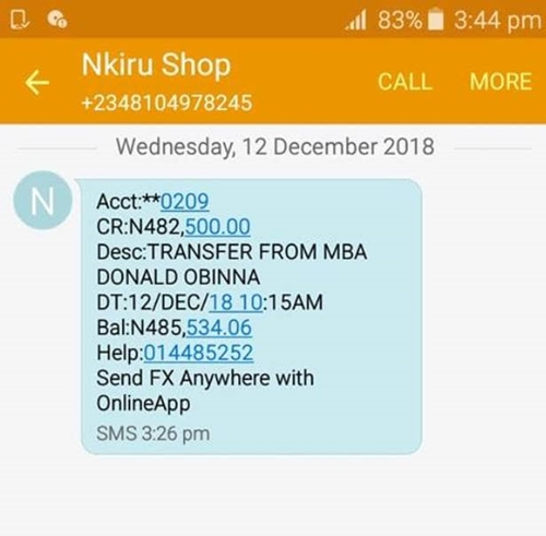 Lady Narrates How She Was Duped Of N482K After Receing Fake Alert