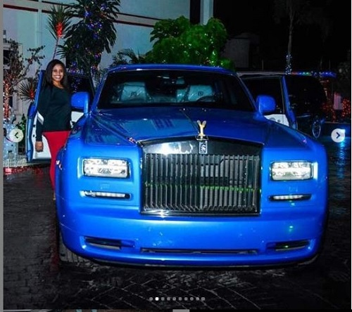 E-money Surprises Wife With Rolls Royce Phantom Car As Christmas Gift