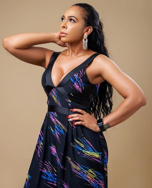 BBNaija Tboss Looks Radiant In Cleavage-baring Outfit