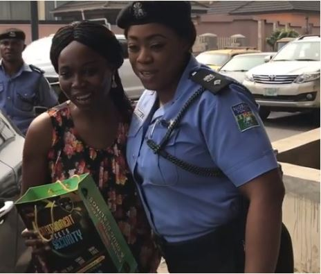 ... Christmas gift distribution exercise. Dolapo Badmus and a commutter