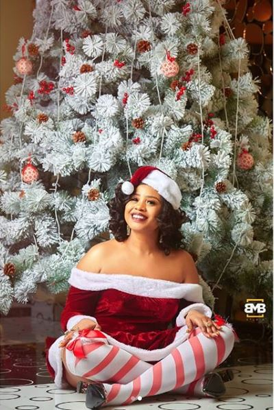 E-Money's Beautiful Wife Poses With Her Rolls Royce To Celebrates Christmas