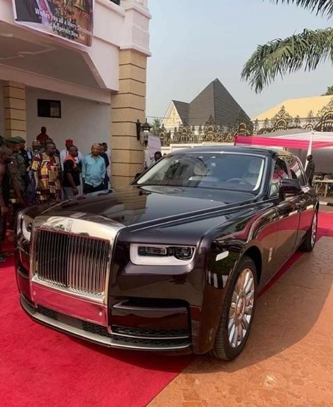 Billionaire Mogul, Arthur Eze Takes Delivery Of His 2019 Rolls Royce Phantom