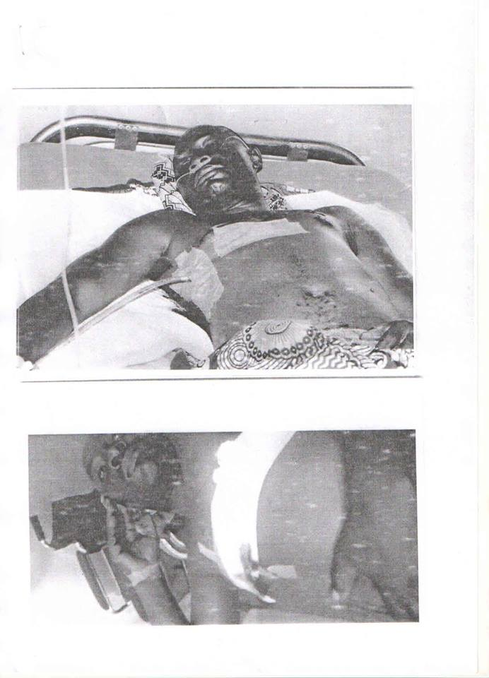 Photos of Police Officer Allegedly Shot By Dino Melaye And His Armed Thugs