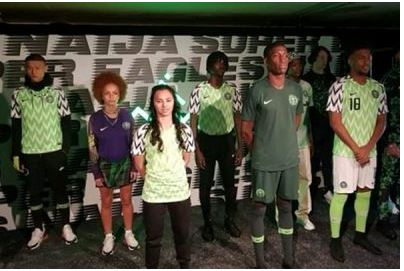 Image result for Wizkid And Iwobi Model For New Super Eagles Jersey