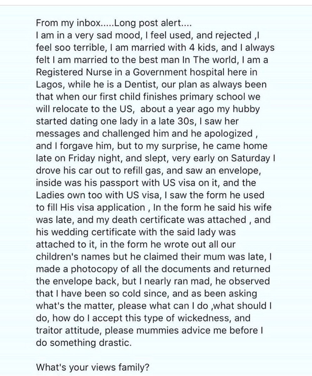 Sorry nigerian man forges wife death certificate so he could read the following story yadclub Gallery