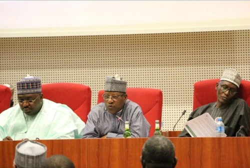 Nigerian Senator Spotted Dozing Off During Senate Hearing on Fuel Scarcity (Photos)