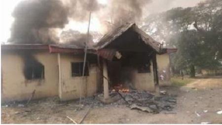 Delta LG Poll: Thugs Burn Down Ughelli DSIEC Office