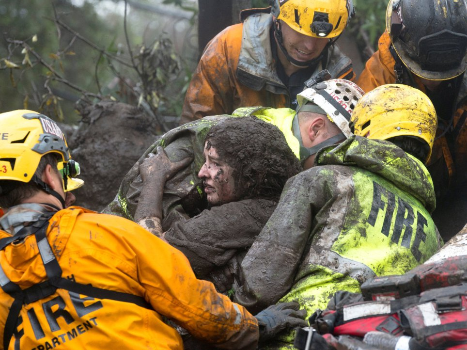 Horror In America: Many People Dead As Mudslide Destroys Homes In California (Photo)