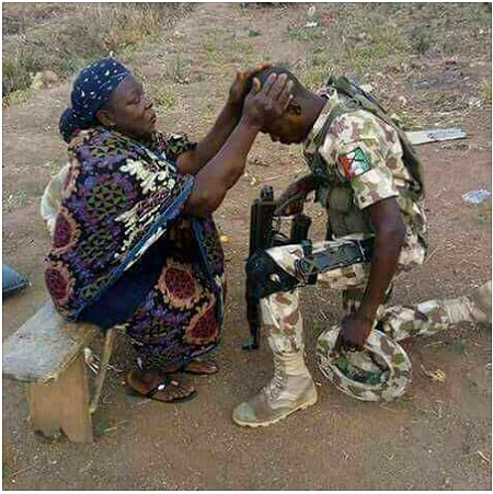 Mother Prays for Her Soldier Son Returning to Northeast to Fight Boko Haram (Photos)
