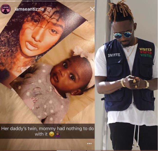 Sean Tizzle Share Photo of his daughter and Hot babymama