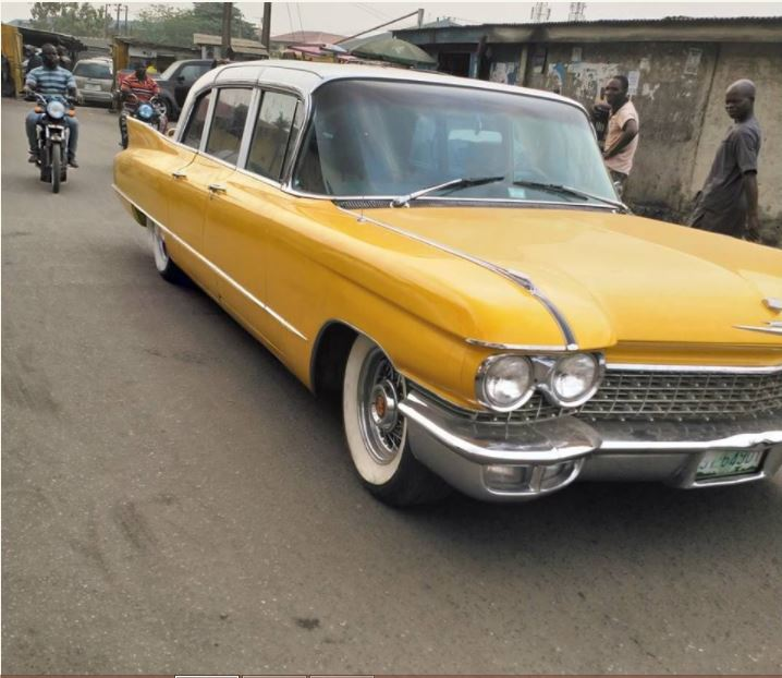 See The 1962 Cardilac Fleetwood Limousine Spotted In Lagos (Photos)