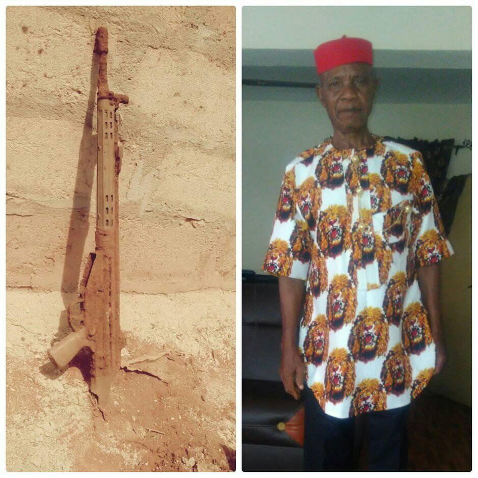 Photos: After 47 Years, Nigerian Man Uncovers Gun His Father Fought With During Biafra War