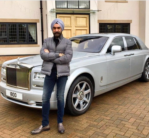 Meet London-based Millionaire A.K.A British Bill Gates Who Matches The Colour Of His Rolls Royce To His Turban Everyday (Photos)