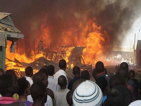 Panic As Midnight Fire Outbreak Razes Nsukka Industrial Market