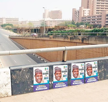 2019 Presidency: Babagana Kingibe's Campaign Posters Flood Major Cities