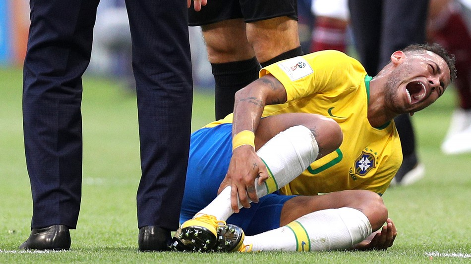 Neymar Has Spent 14 Minutes 'On The Ground' So Far At World Cup In Russia