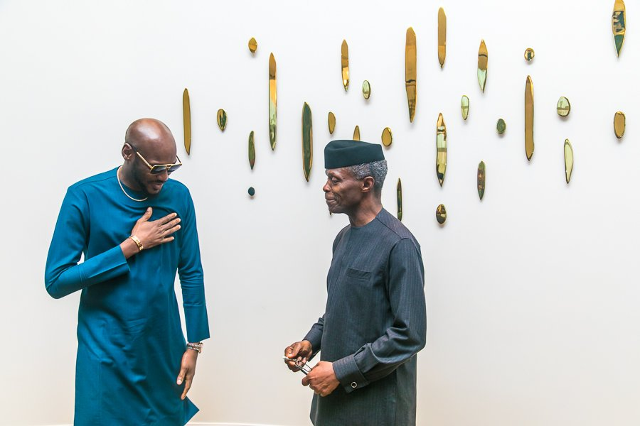 Image result for Singer 2Face Idibia Accompanies VP, Yemi Osinbajo To Hollywood (Photos)