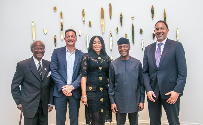2Baba, Mo Abudu, Others Accompany Yemi Osinbajo To Hollywood (PHOTOS)