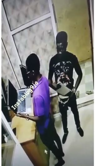 CCTV Catches Young Man Red-handed Stealing Computer From A Shop At Computer Village (Video)
