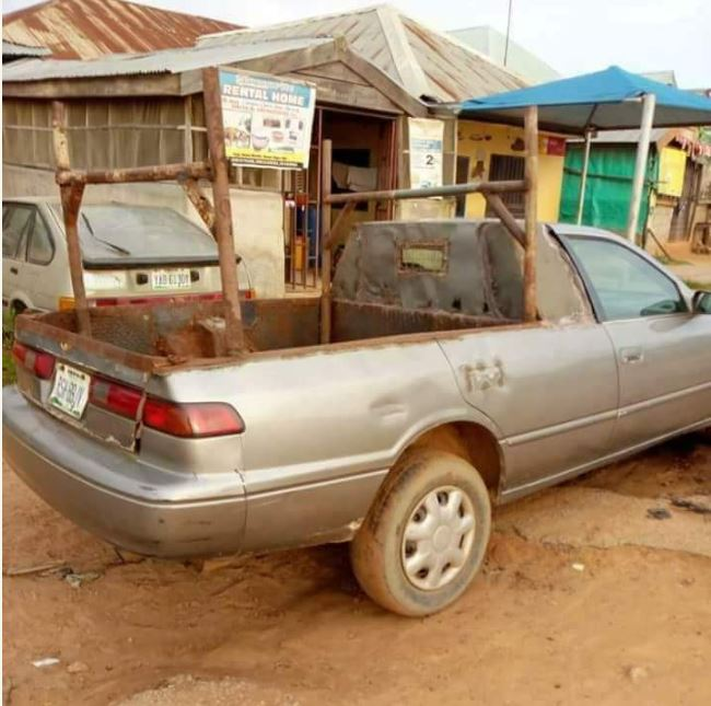 Weird Toyota Camry Spotted In Edo State (Photos)