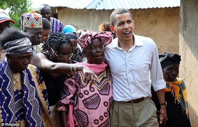 Obama Dances With His Grandmother After Arriving Kenya (Video)