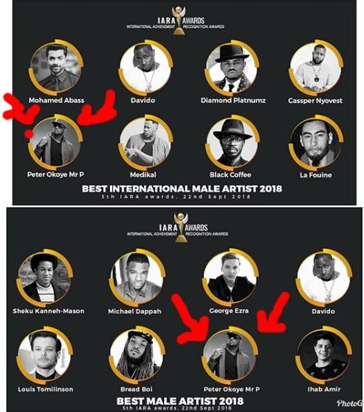 Peter Okoye (Mr P) Excited To Get First Award Nomination