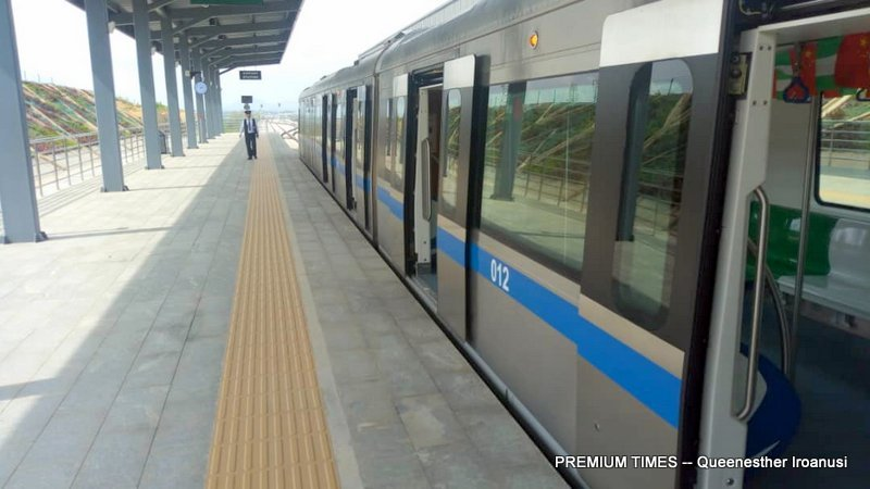 Check Out How The Abuja Rail Line Launched By President Buhari Works