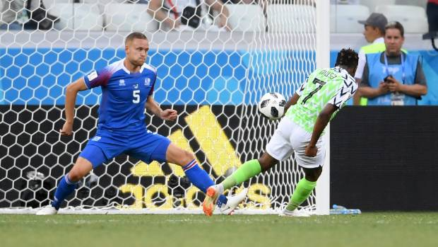 Ahmed Musa Reacts As His World Cup Goal Is Nominated For 'Goal Of The Tournament'