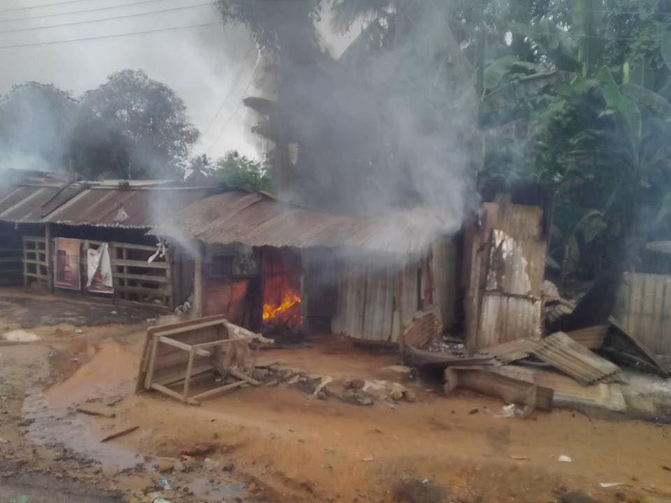 Soldiers Destroy Community In Akwa Ibom Over Death Of Their Colleague (Photos)
